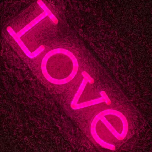 Pink LED sign